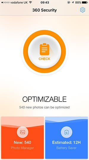 screenshot of another business app