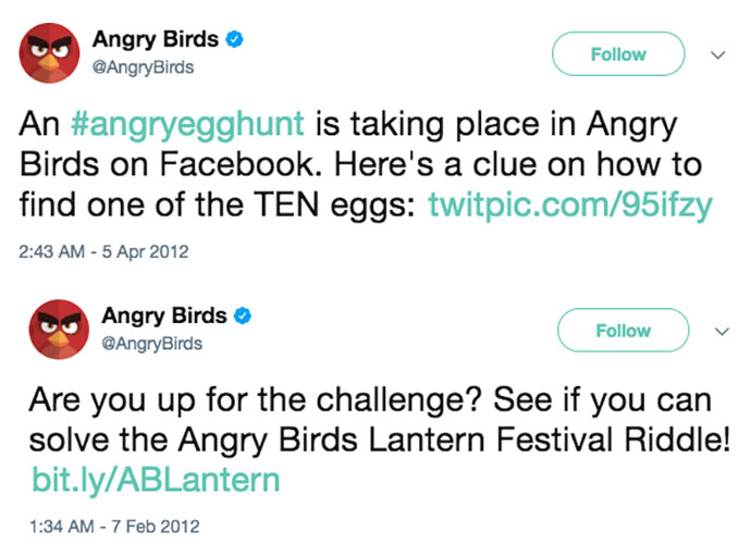 angry birds social media screenshot