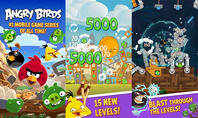 angry birds screenshots