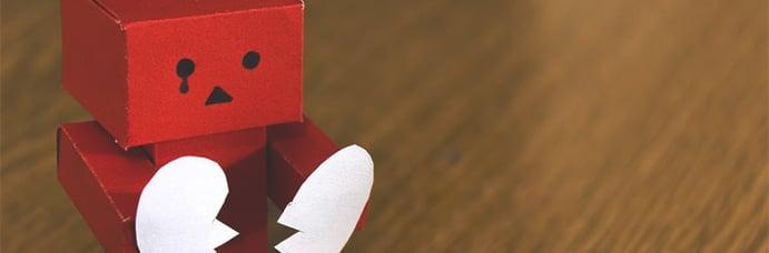 paper robot heartbroken