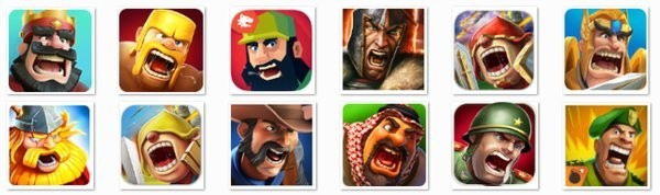 Collage of avatars from a mobile app