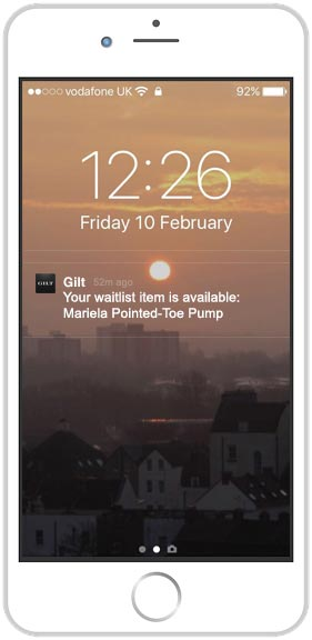 mobile with push notification