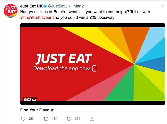 just eat social media screenshots