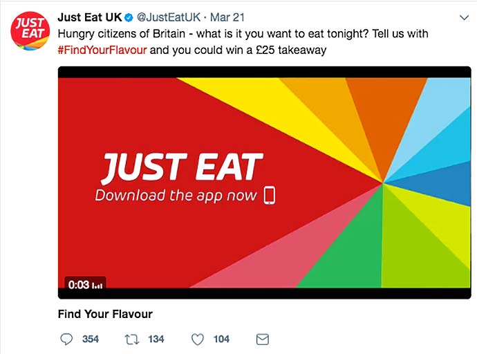 just eat social media screenshots