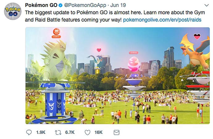pokemon go social media screenshot