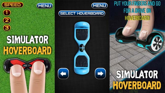 stimulator hoverboard app preview