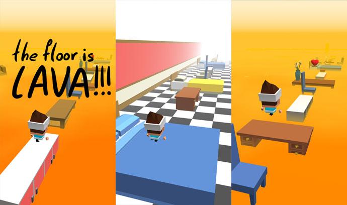 the floor is lava gameplay