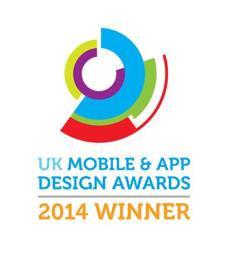 uk mobile and app design awards 2014 winner badge