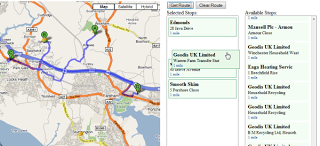 google maps created route with jquery and microformats